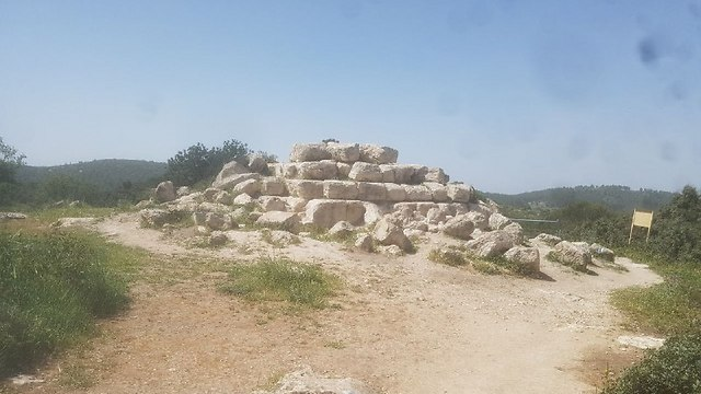 Remains of the pyramid (Photo: Assaf Kemer) (Photo: Assaf Kemer)