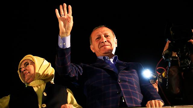 Erdoğan addressing his supporters (Photo: AP)
