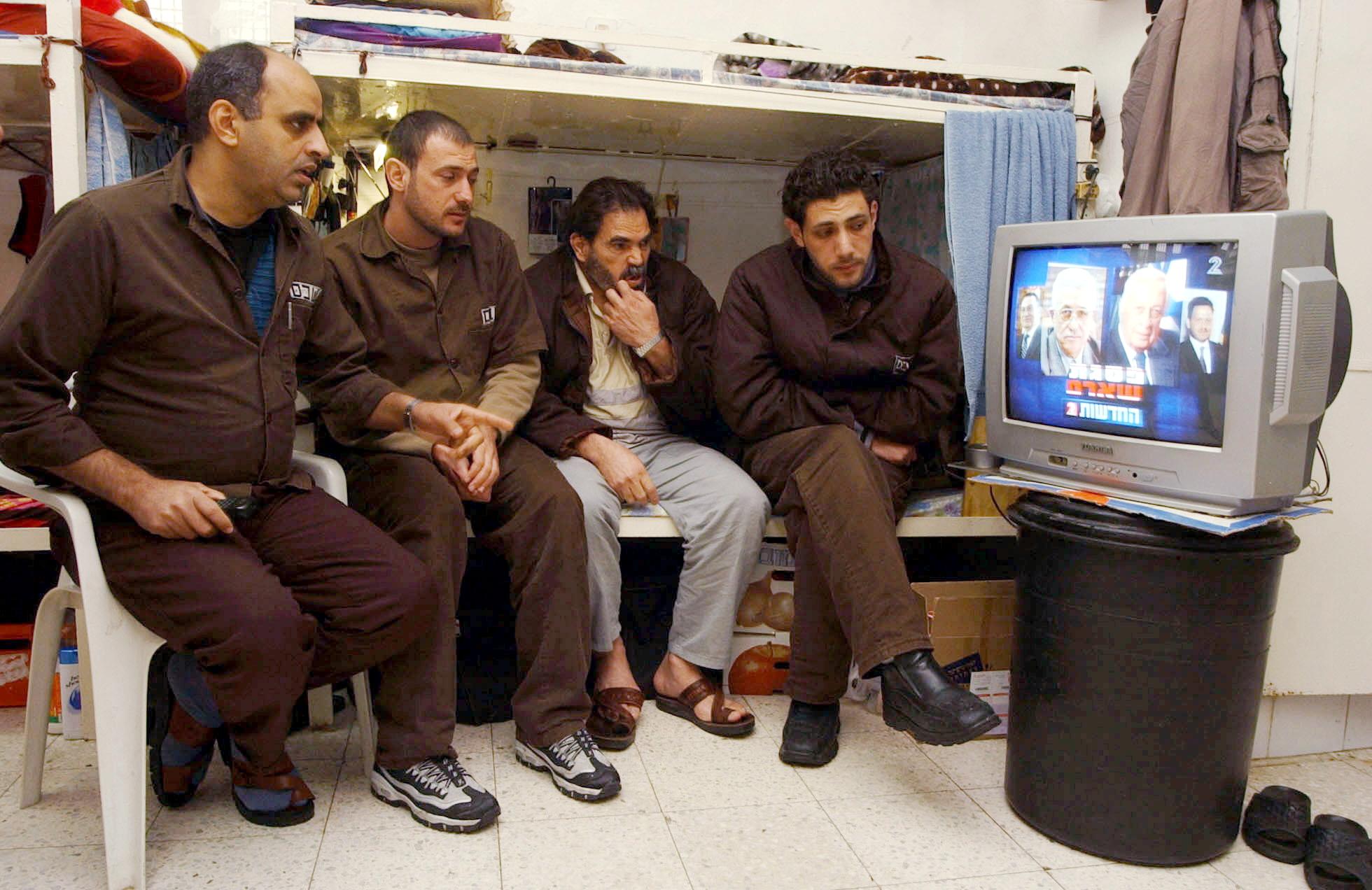 Палестинские заключенные в тюрьме Шикма. Фото: Гади Кабало