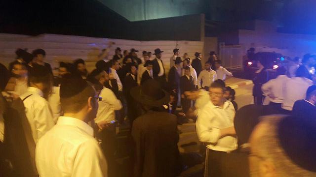 Ultra-Orthodox agitators protesting arrests