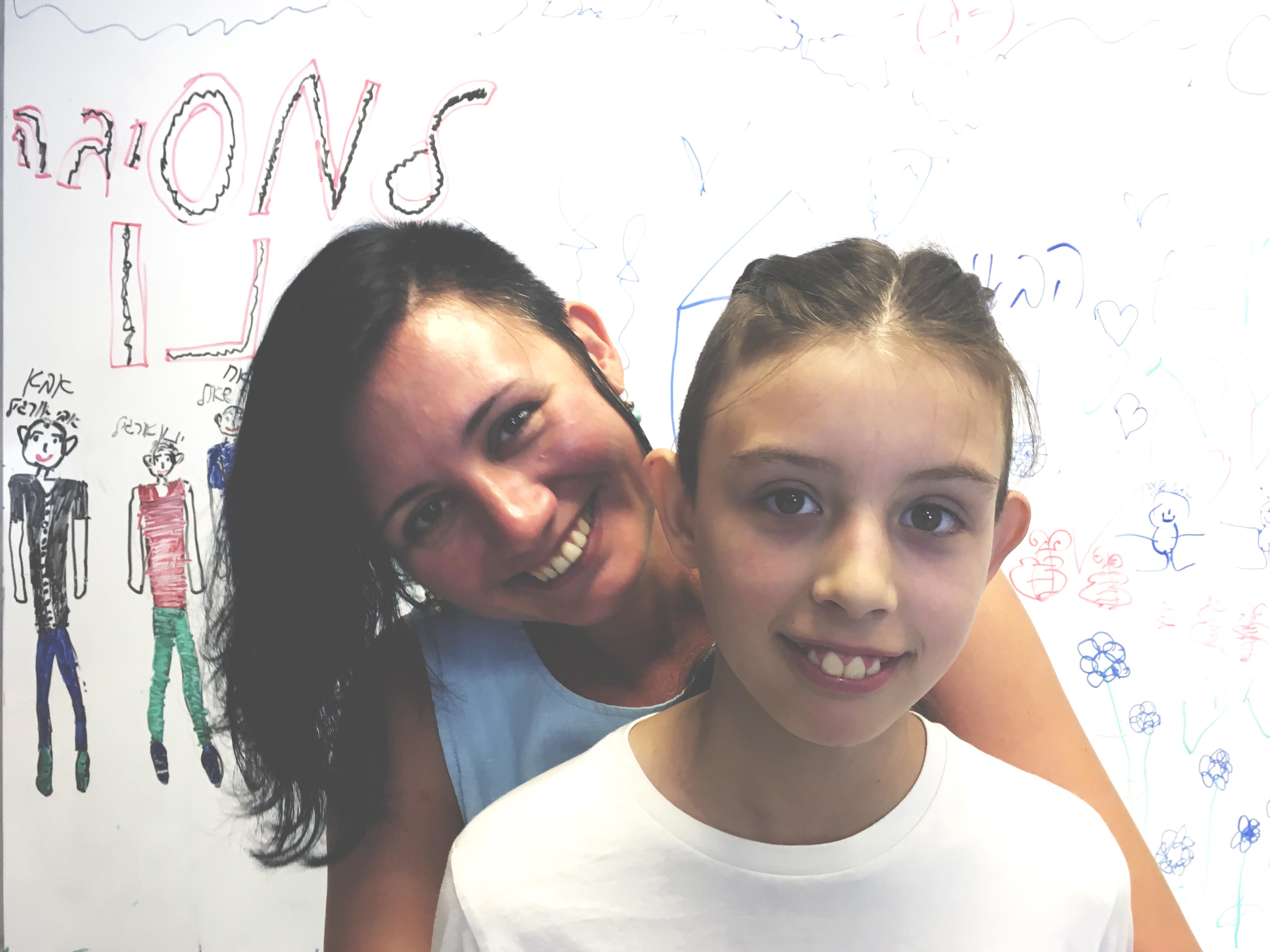 Автор с дочкой Соней