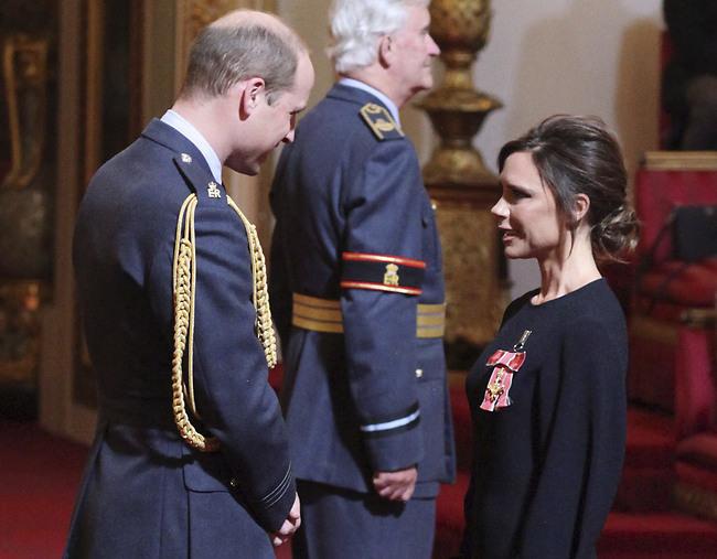 הכי מרגש. ויקטוריה בקהאם והנסיך וויליאם (AP)