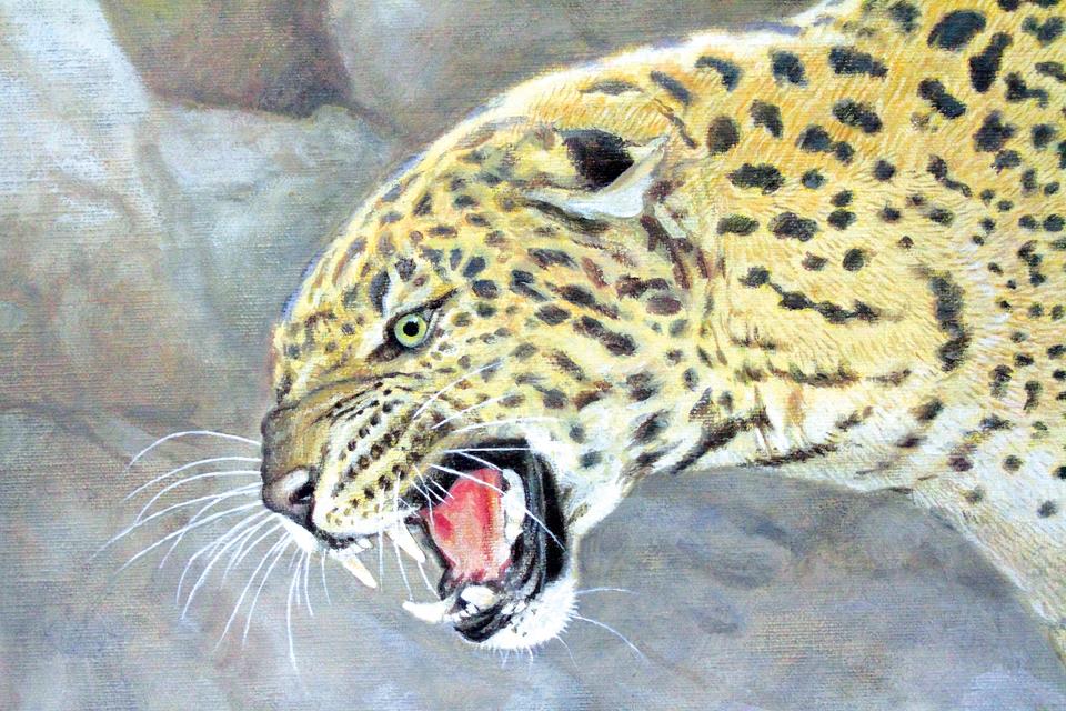 """""""Леопард"""". Картина Вальтера Фергюсона"""