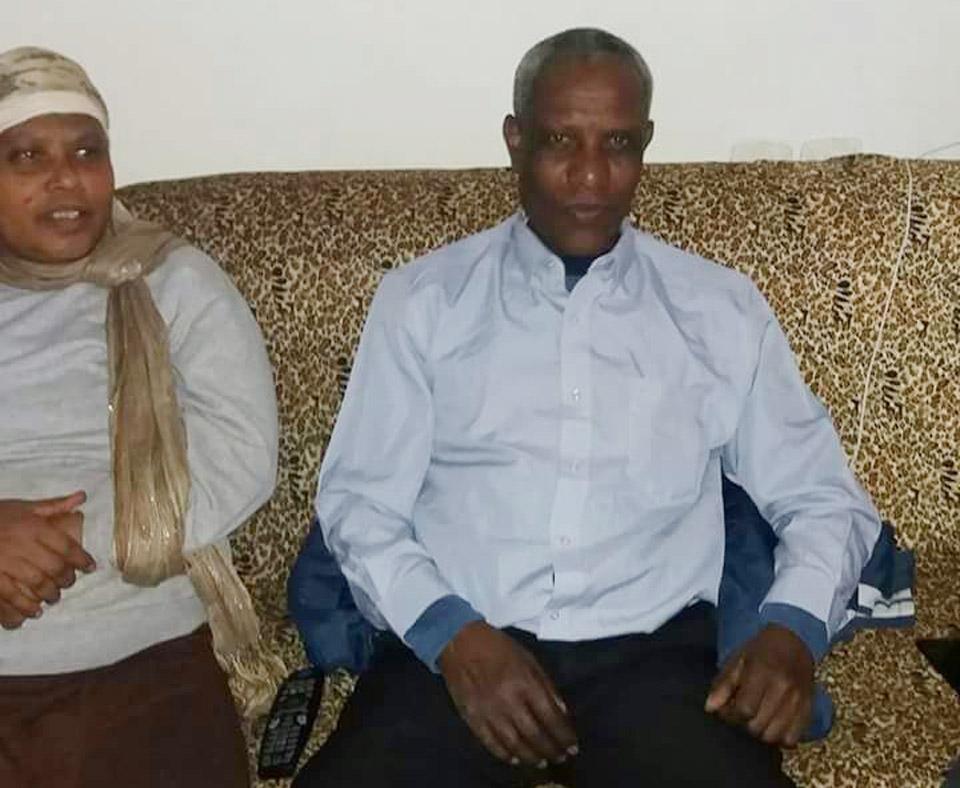 Аламу Шете с супругой
