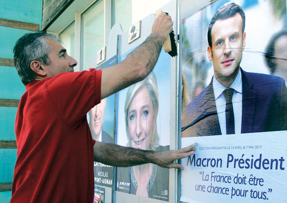 Предвыборная суета в Париже. Фото: АР