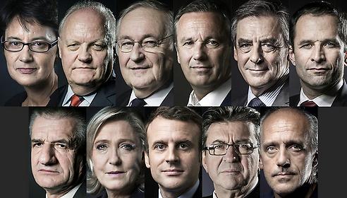 11 кандидатов в президенты Франции. Фото: AFP