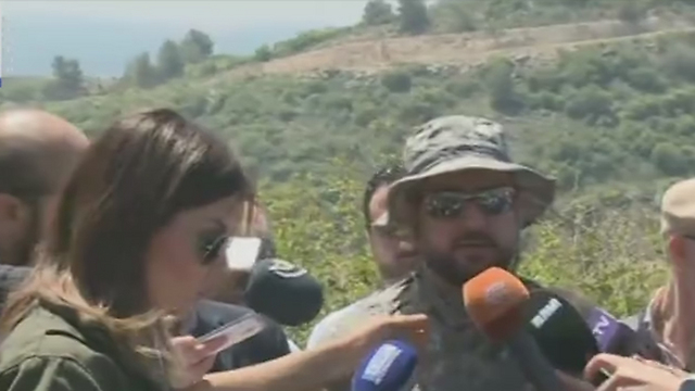 Hezbollah official tells reporters 'Israel built settlments on Palestinian ruins.'
