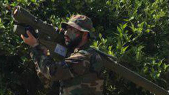 לוחמי חיזבאללה בקרבת הגבול הישראלי