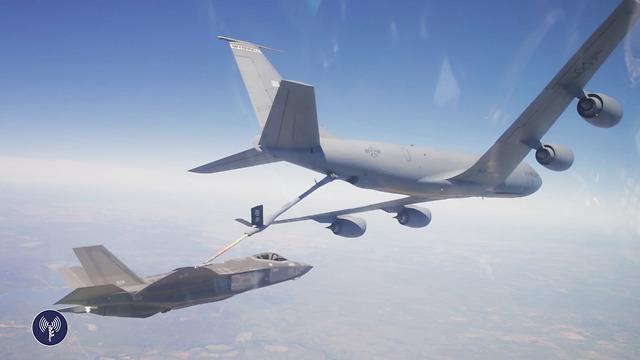 Дозаправка F35 в воздухе. Фото: пресс-служба ЦАХАЛа