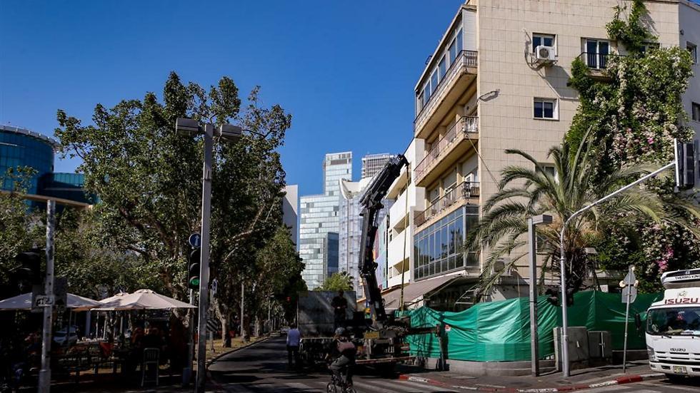 צומת הרחובות נחמני ושדרות רוטשילד בתל אביב (צילום: ירון ברנר)