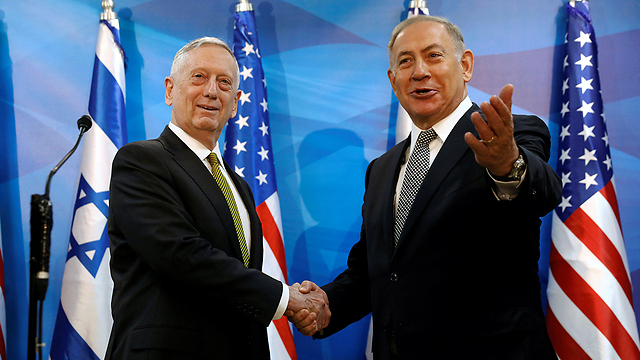 Mattis and Netanyahu (Photo: Reuters)