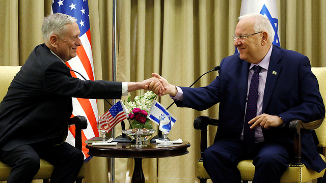 Mattis and Rivlin (Photo: Reuters)