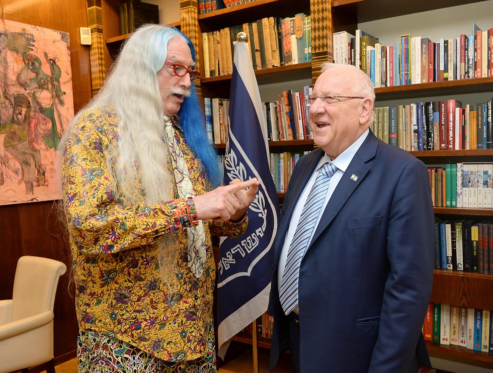 President Rivlin with Dr. Adams (Photo: Mark Neiman/GPO)