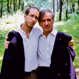 Late Holocaust survivor and Nobel Laureate Elie Wiesel with his son Elisha. 'Will you be a witness to the hope that my father represented through his words and actions?'