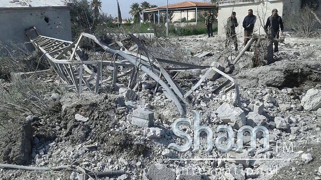 Scene of the alleged attack in Syria