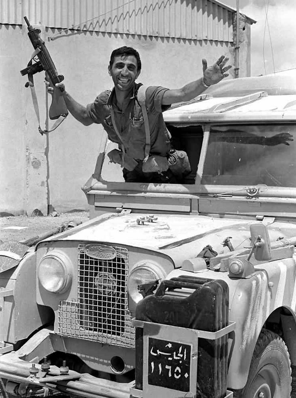 Jordanian jeep taken over in east Jerusalem (Photo: GPO)