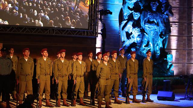 """Церемония в музее """"Яд ва-Шем"""". Фото: Гиль Йоханан"""