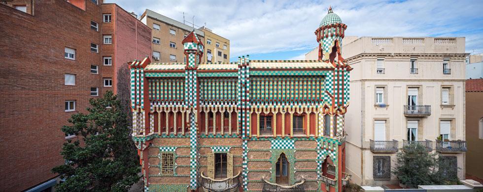 Casa Vicens, ברובע גרסיה בברצלונה, הוא פרויקט הביכורים של אנטוני גאודי (צילום: Pol Viladoms)