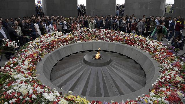 Мемориал в Ереване. Фото: AFP