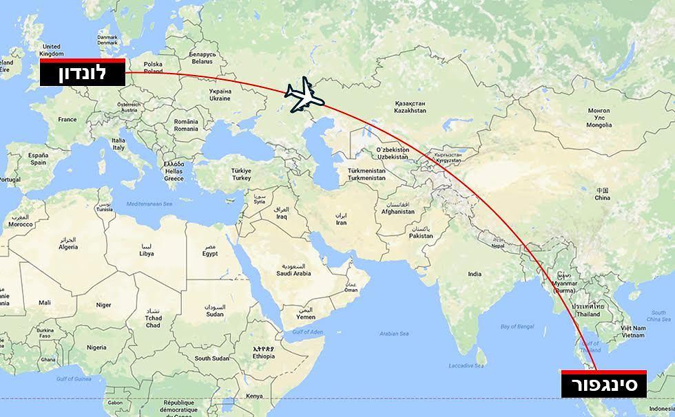 מסלול הטיסה. 13 שעות בלואו-קוסט ()