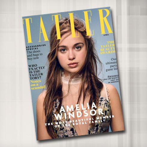 אמיליה ווינדזור על שער מגזין טאטלר