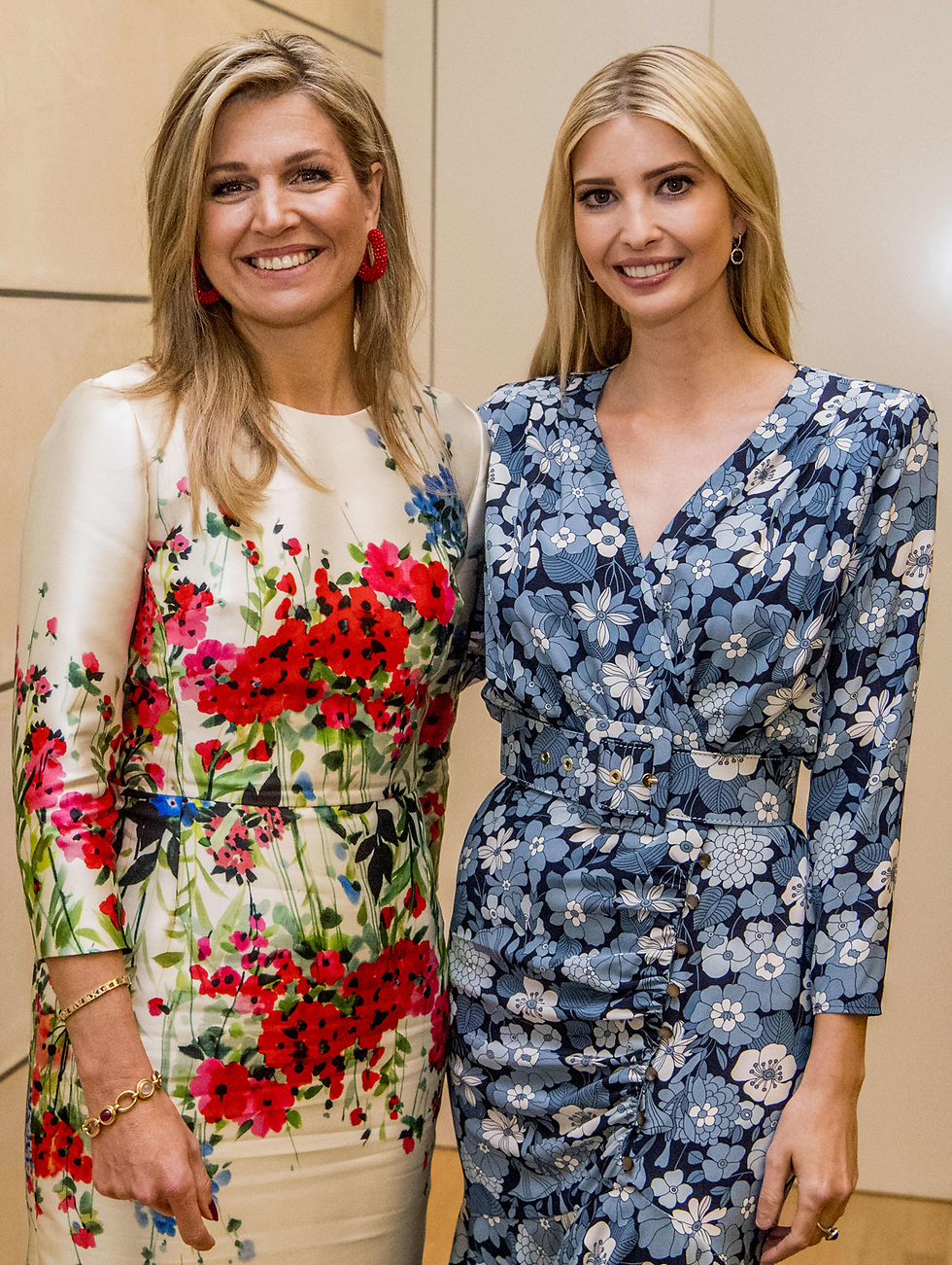 Иванка Трамп и голландская королева Максима - обе в цветочном. Фото: MCT