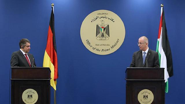 Gabriel meeting with Palestinian Prime Minister Rami Hamdallah