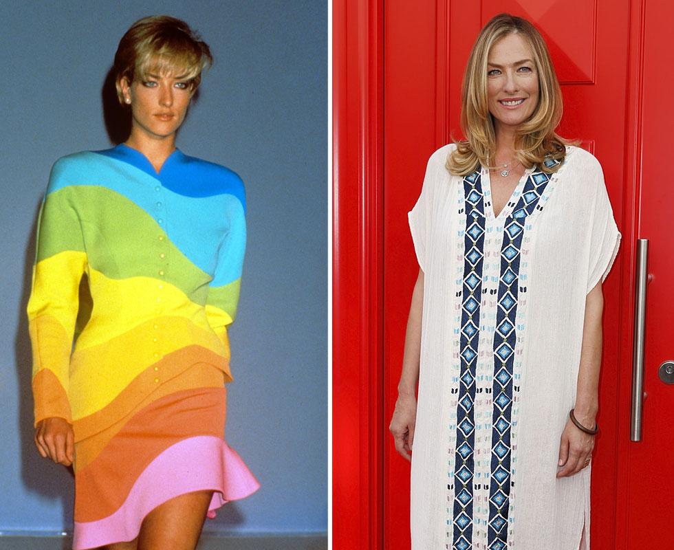 """טטיאנה פטיץ כיום (מימין) ובשנת 1990. """"תמיד חשבתי שאופנה ודוגמנות הם לא מי שאני. זה מה שעשיתי, אבל זה לא מה שהגדיר אותי""""  (צילום: rex/asap creative, Gettyimages)"""