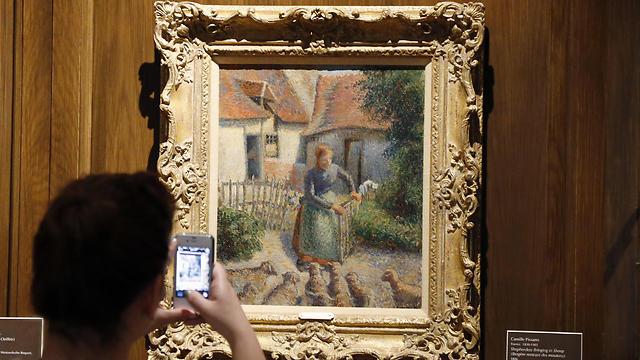 'Shepherdess Bringing in Sheep' painting (Photo: AP)