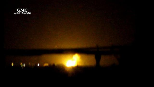 Fire at site of alleged Israeli air strike on Iranian arms depot