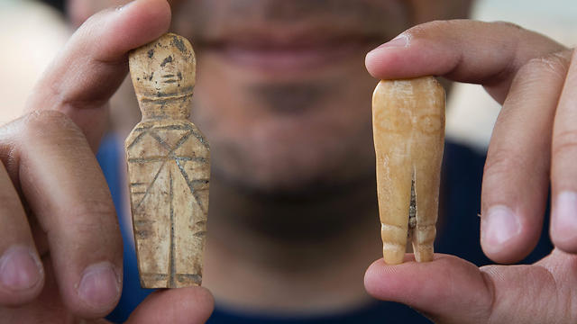 Artifacts, discovered during the renovation of the ancient harbour of Caesarea (AFP)