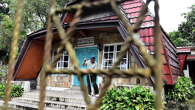 בית הכנסת של הקהילה היהודית באינדונזיה (צילום: AFP)