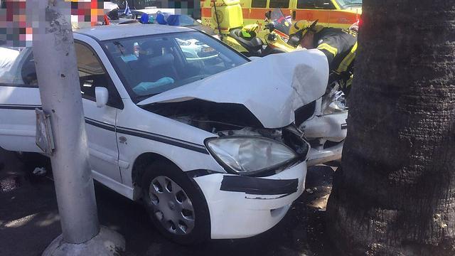 """דיווח אוטומטי במקרה של תאונה - ECall (צילום: דוברות מד""""א)"""