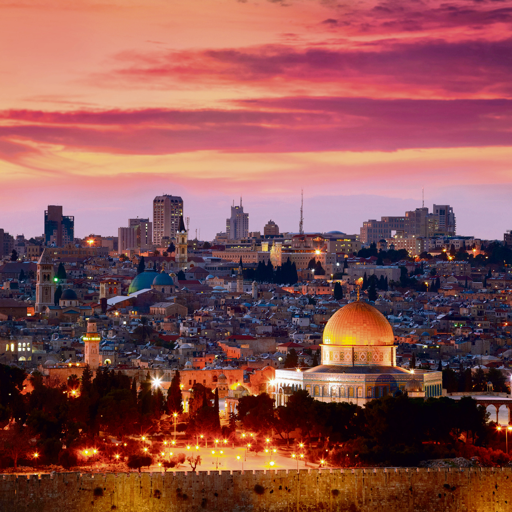 Jerusalem. Joy and anticipation, serenity and hope
