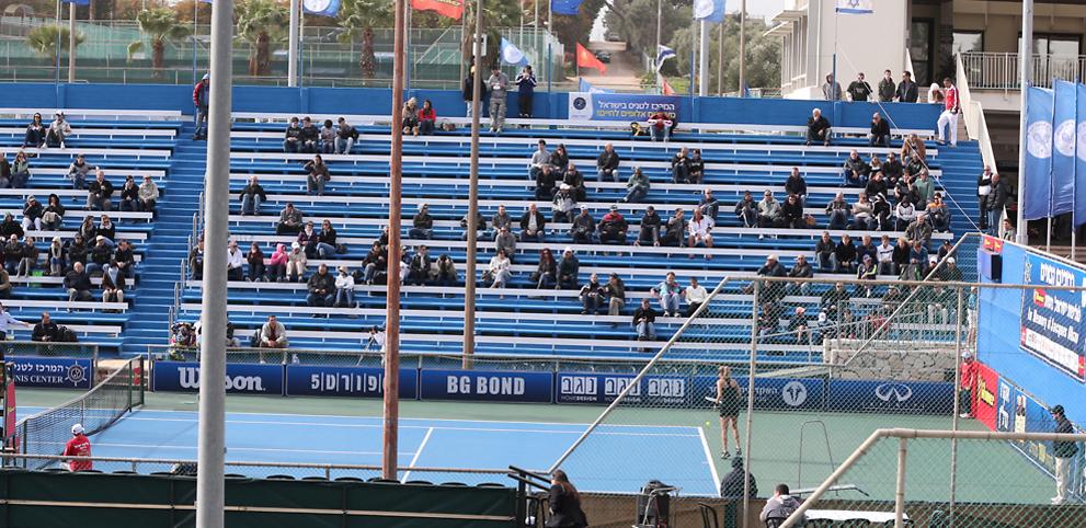 מרכז הטניס ברמת השרון. הוקם ביוזמתו של איאן פרומן (צילום: ראובן שוורץ )