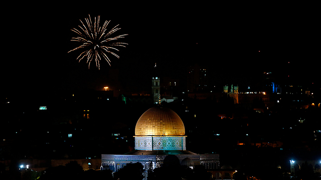 Temple Mount during the Independence Day celebrations (Photo: AFP)