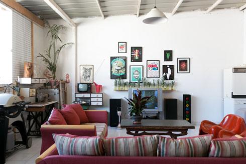 הסלון החיצוני (צילום: שירן כרמל)