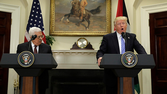 Abbas and Trump (Photo: AP)