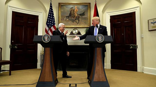 Дональд Трамп и Абу-Мазен. Фото: АР