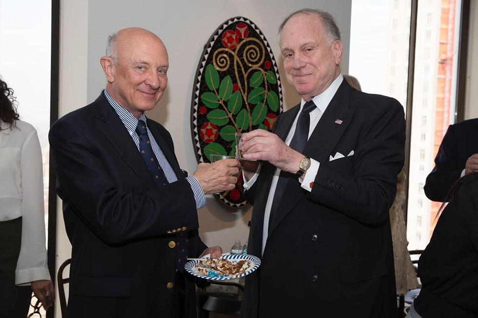 רונלד לאודר וג׳ימס ווזלי (צילום: נועה גרייבסקי) (צילום: נועה גרייבסקי)