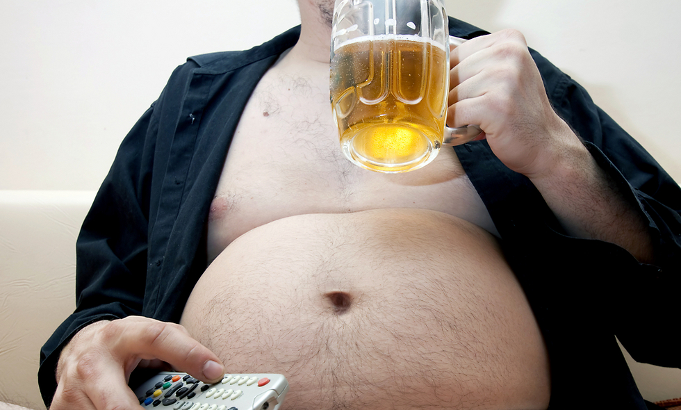 סובלים מכרס? אל תאשימו את הבירה (צילום: shutterstock)