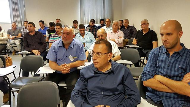מפגש העיתונאים שנערך אתמול בכפר כנא ()