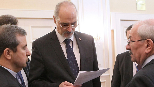 Syrian representative in Astana Bashar Jaafari (Photo: AFP)