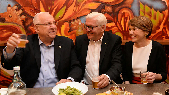 Left to right: Rivlin, Steinmeier and his wife (Mark Nieman/GPO)