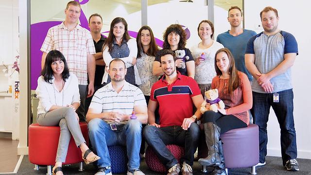 הצוות בחיפה של יאהו (צילום: יאהו)