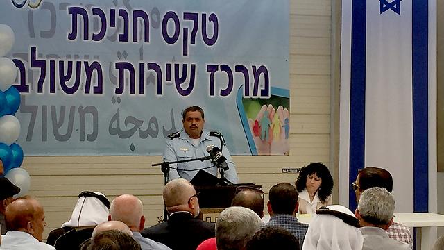 Commissioner Alsheikh speaking during the ceremony (Photo: Gil Yohanan) (Photo: Gil Yohanan)
