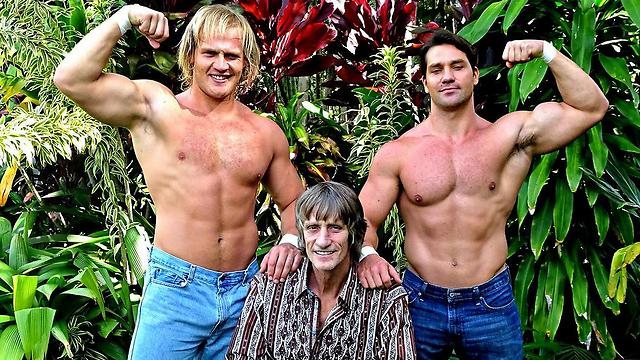 Kevin Von Erich and his sons