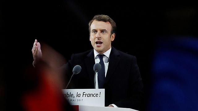 מוקד הפריצה - מחשבי הקמפיין של עמנואל מקרון (צילום: AFP)