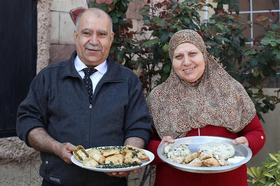 בני הזוג סאלווה ועוודאללה. אירוח מסוג אחר (צילום: אלדד מאסטרו)
