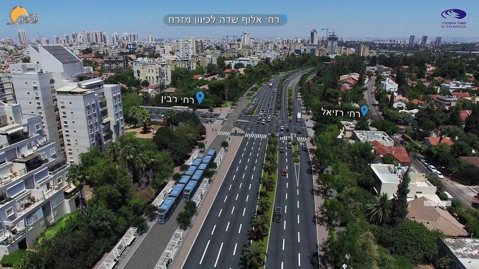 """הדמיית הקו הסגול (צילום: נת""""ע) (צילום: נת"""